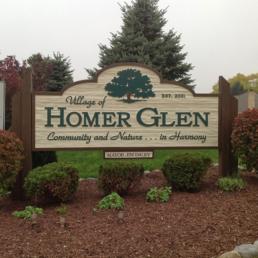 Homer Glen Village Sign